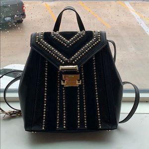 Michael Kors Black & Gold Backpack Purse.